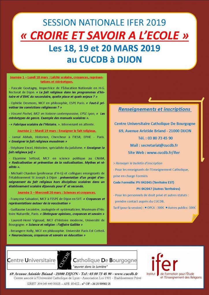 FLYER session nationale IFER 2019 avec programme publisher